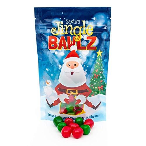 Santas Jingle Bawlz | Fruit Chews Candy | Perfect Holiday and Christmas Gift or Stocking Stuffer! (Single Bag)