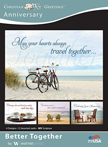 Better Together - Anniversary Greeting Cards - NIV Scripture - (Box of 12)