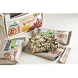 Raw Crunch Bars - Box 12 Bars 9 Nutritionally satisfying for natural appetite control Convenient mini-meal for on-the-go individuals, athletes and kids! Naturally high in fiber, heart healthy fats and bioavailable protein