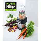 Ninja BL455_30 Nutri Professional Personal Blender Bonus Set with 3-Sip & Seal Single Serves(12, 18, and 24 oz. Cups) & 75-Recipe Cookbook, Stainless Steel/Black (Color: Stainless Steel/Black)
