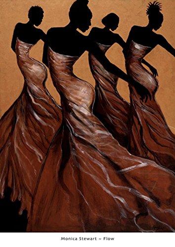 Monica Stewart Flow Art Print Poster Art Poster Print by Mo