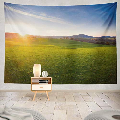 Deronge Tapestry Wall Hanging Sunset Hills Australia Landscape New Country South Tapestry Wall Art Decor 60x80 Inch Wall Tapestry for Men Bedroom Home Decor Decorative Tapestry Dorm (Nsw Furniture Outdoor)