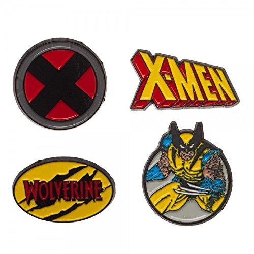 Marvel Comics XMEN 1 Wide Metal Enamel Costume Set of 4 Pins