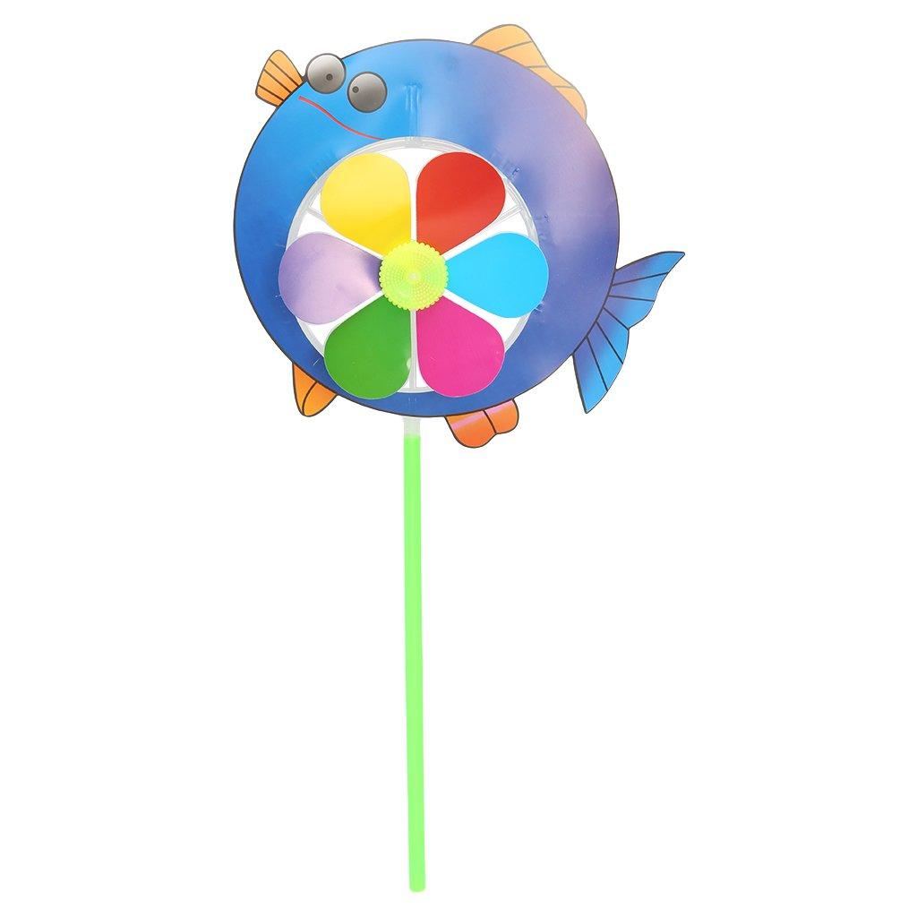 Tandou Cartoon Tier Windmühle Wind Spinner Windrad Hausgarten Yard Decor Kinder Spielzeug