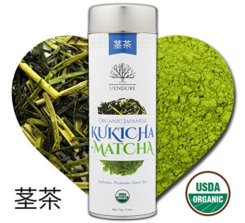 Kukicha Green Tea Stems with Matcha Powder by UEndure | USDA Organic | Japanese Loose Leaf Twig Tea | Gourmet Matcha Green Tea | Best Natural Detox Health Benefits | 71g (35 Servings) (Best Vitamins For 27 Year Old Woman)