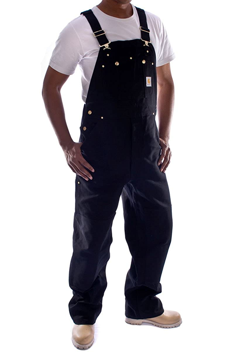 Carhartt Denim Dungarees - Black bib overall men's work dungaree mens dungaree R01Black