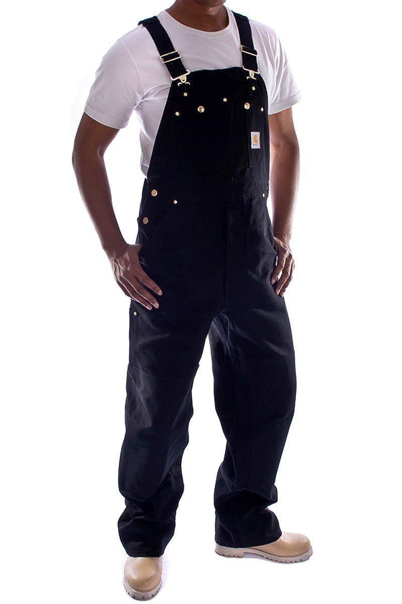 Carhartt Denim Dungarees - Black bib overall men's work dungaree mens dungaree R01Black