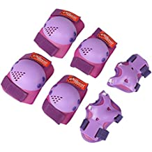 eNilecor Kids/Youth Rollerblade Roller Skates Cycling Knee Pads Elbow Pads Wrist Guards Protective Gear Set for BMX Bike Skateboard Inline Skatings Scooter Riding Sports