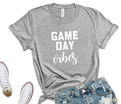 Game Day Vibes T-Shirt, Unisex Football Mom Shirt, Baseball Mom Tshirt, Cute Sunday Football Shirt, Sports Shirt,Sundays are for football, BELLA CANVAS 3001 UNISEX TSHIRT