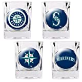 Seattle Mariners 4 Piece Assorted Shot Glass Set by Great American Products