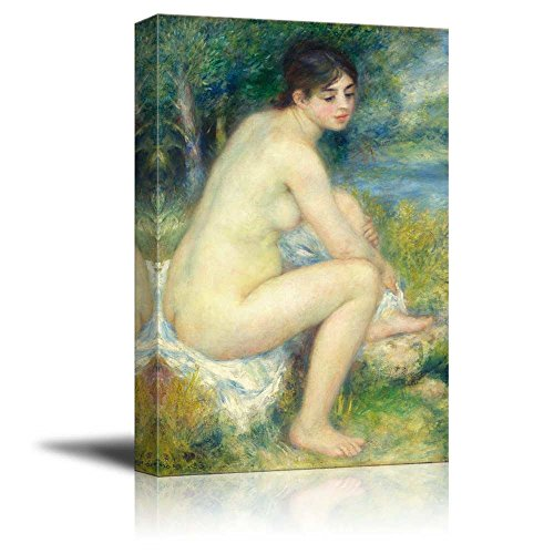 wall26 - Nude Woman in a Landscape by Pierre-Auguste Renoir - Canvas Print Wall Art Famous Painting Reproduction - 12