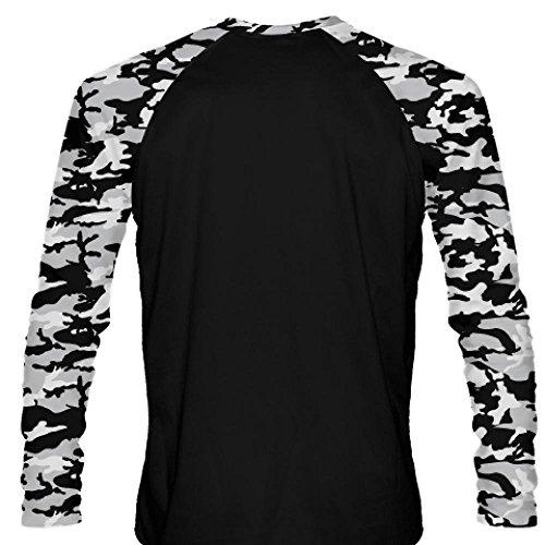2703424f13a LightningWear Long Sleeve Camouflage Shirts Black Gray - Youth Long Sleeve  Shirts - Mens Camouflage Shirts