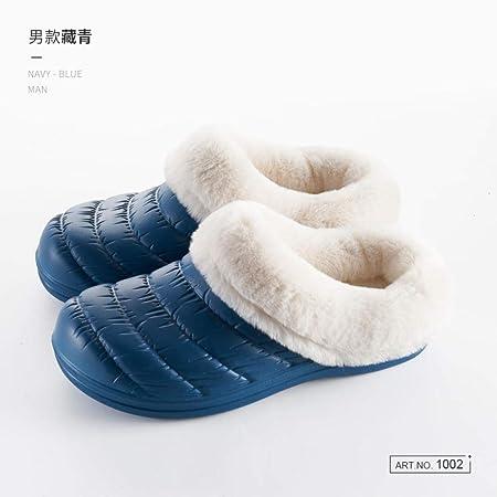Treslin Uomo Inverno Peluche Memory Foam,Pantofole di Cotone Impermeabili Autunno e Inverno Donna Calda Coperta casa Spessa casa Fondo Pantofole