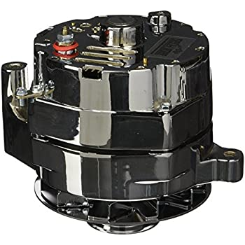 Tuff Stuff 7078ND Chrome 100 Amp 1-Groove Pulley Alternator for Ford