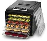 Gourmia GFD1650 Premium Countertop Food Dehydrator Drying Shelves Digital Thermostat 8 Preset Temperature
