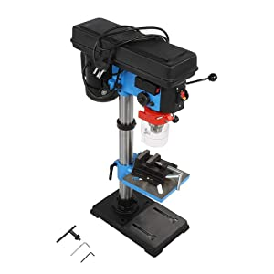 Drill Press, 550W 9 Speed Electric Drill Press Workbench with 16 mm/0.63 inch Drill Chuck and Adjustable Height US Plug 110V