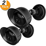 Wall Mount Cover Skin for Yi Home Camera, Frienda Mount Kit Silicone Skin and Mounting Bracket for Yi Camera, Yi Home Security Camera (2 Pack, Black)