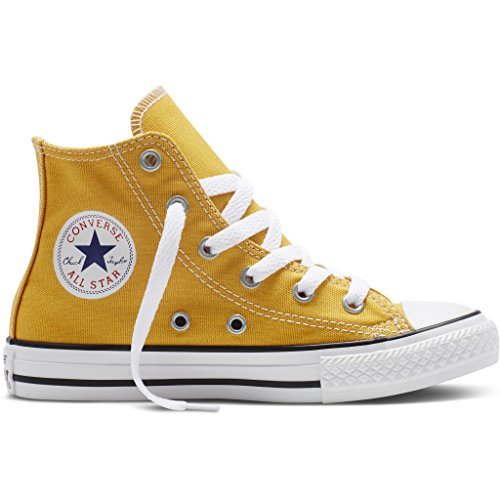 Converse Unisex Adults' Chuck Taylor All Star Seasonal Hi-Top Sneakers, White, 3.5 UK Orange