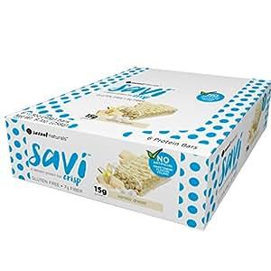 Savi Crisp Dessert Protein Bar, Vanilla Dream, 6 Count