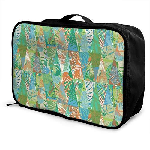 Qurbet Bolsas de Viaje, Travel Luggage Trolley Bag Portable Lightweight Suitcases Duffle Tote Bag Handbag, Leaves Style…
