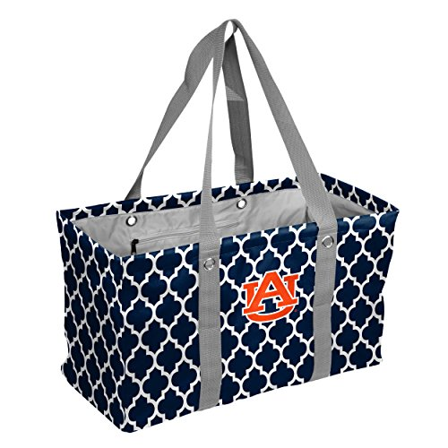 (Logo Brands Collegiate Large Collapsible Picnic Tote Auburn Tigers, Navy, One Size )