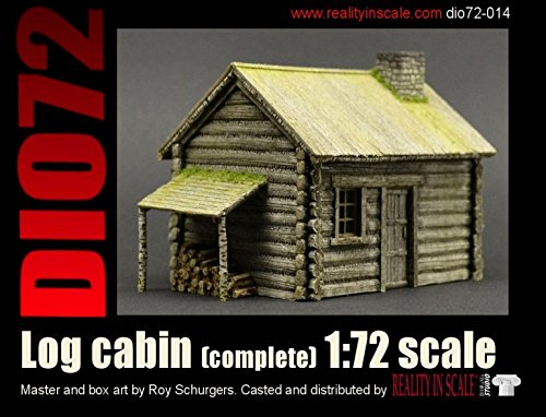 Reality In Scale 1:72 Log Cabin - Resin Diorama Accessory #72014