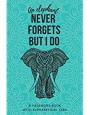 Password Book With Alphabetical Tabs: Beautiful Password Keeper Book With Mandala Elephant Design   Never Forget Your Passwords Again!