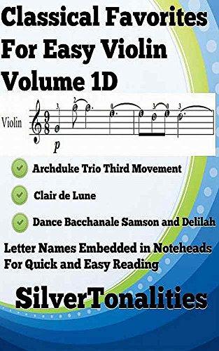 Classical Favorites for Easy Violin Volume 1D (Classical Sheet Samson Music)