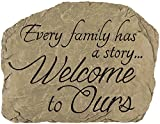 Carson Home Accents CHA13030 Garden Stone Family Welcome (Set of 1)