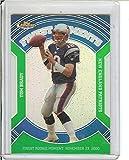 Football NFL 2007 Finest Moments Green Refractors #TB Tom Brady /199 Patriots