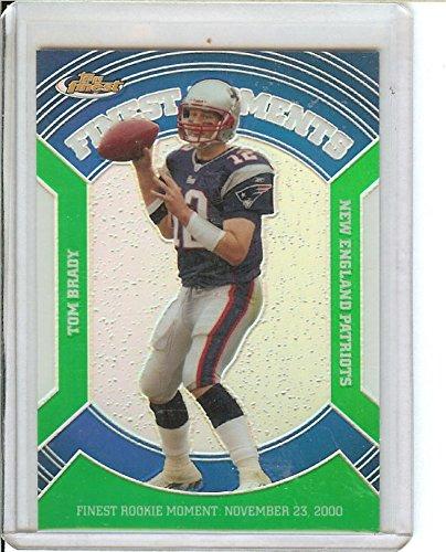 Football NFL 2007 Finest Moments Green Refractors #TB Tom Brady /199 Patriots by tom brady
