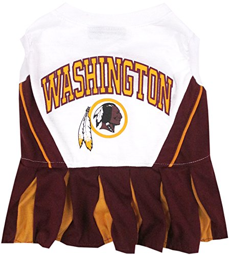 Washington Redskins NFL Cheerleader Dress For Dogs - Size Medium