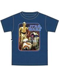 Droids R2D2 C3PO BB-8 Youth T-Shirt, Heather Blue