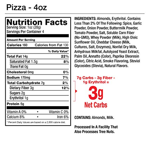 Legendary Foods Seasoned Almonds | Keto Friendly, Low Carb, Good Protein & Fat | Pizza Flavored (4oz, Pack of 4) by Legendary Foods (Image #2)