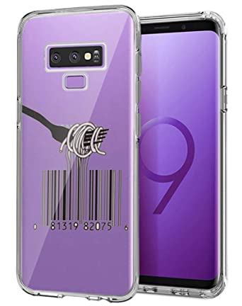 Amazon com: Case for Samsung Galaxy Note 9 Qr Code Noodles Clear