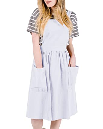 98f0ac2814 Saodimallsu Womens A-Line Straps Loose Bib Overall Dresses Casual Pinafore  Jumper Dress with Pockets at Amazon Women s Clothing store