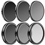 Neewer Multi-coated 6 Pieces Filter Kit for DJI OSMO/Inspire 1, Made of Ultra High Definition Glass and Aluminum Thread Frame, Includes: CPL, ND8, ND16, ND32, ND8/PL and ND16/PL Filters