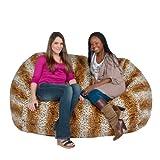 Cozy Sack 6-Feet Bean Bag Chair, Large, Leopard Print