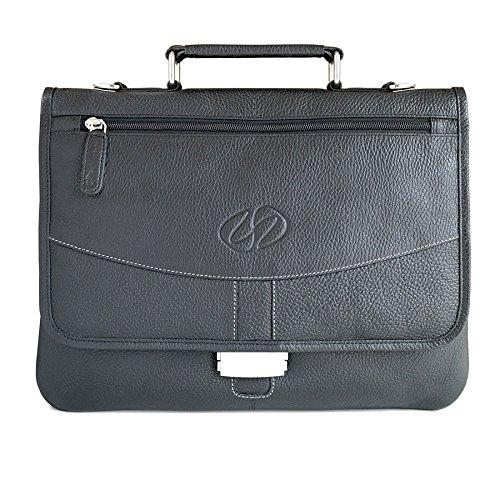 - MacCase Premium Leather iPad Pro Briefcase - Black