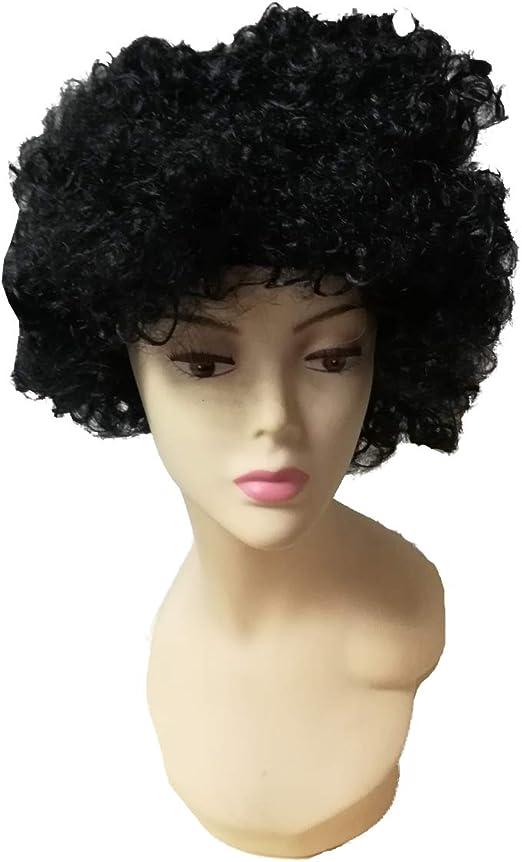 Cisne 2013, S.L. Peluca Unisex Pelo Rizado Afro Corto para Hombre ...