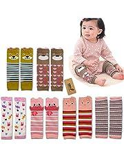 iZiv(TM) 6 PACK Cute Baby Toddler Leg Sleeve Warmers - Knee Socks Protector Warmer for Girl 0-3 Years