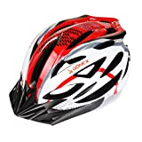 Gonex Road/Mountain Bike Helmet Men Bicycle Helmet, Large Fits 54-65cm(Black+Red)