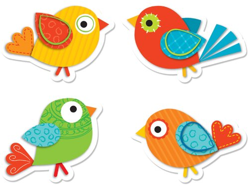Carson Dellosa Boho Birds Shape Stickers (168120)