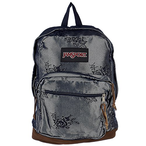 (JanSport Right Pack Laptop Backpack- Sale Colors (Silver Rose Jacquard))