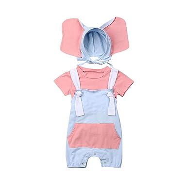 DFVVR - Disfraz de Elefante para niña y niño + Mono + Disfraz de ...
