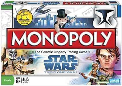 Monopoly Star Wars La Guerra de los Clones [VERSION INGLESA]: Amazon.es: Juguetes y juegos