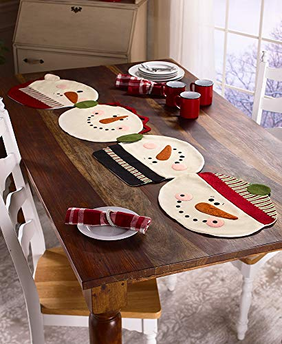 (The Lakeside Collection Snowman Placemats or Table Runner)