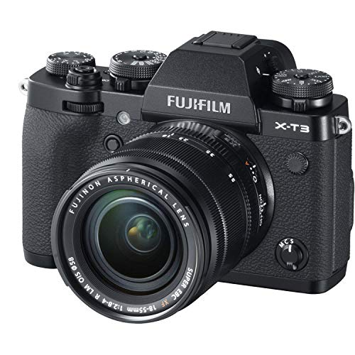 FUJIFILM X-T3 Mirrorless Digital Camera Bundle with Fujifilm VG-XT3 Vertical Battery Grip (with 18-55mm Lens, Black)