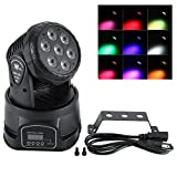 Moving Head Stage Light LED RGBW Disco Party DMX512 Sound Activated Effect Lights US Plug 110V Festival Party Stage