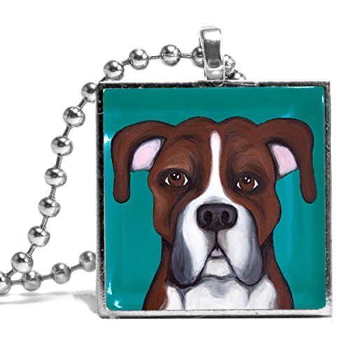 Boxer named Jax Necklace (Rottweiler Jewelry)
